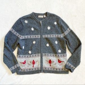 Croft & Barrow festive winter cardigan sweater